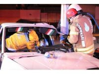 14 yaşındaki çocuk kaza yaptı: 2 yaralı