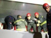 Konya'da Marketin Asma Tavanı Çöktü