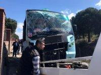 Maltepe'de minibüs kazası: 8 yaralı