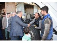 Başkan Çerçi esnafı ziyaret etti destek istedi