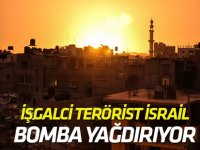 İşgalci terörist İsrail, Gazze'yi vuruyor