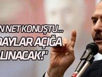"""Bakan Soylu net konuştu... """"O adaylar seçilmeleri halinde açığa alınacak!"""""""