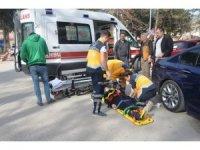 Bilecik'te otomobil yayaya çarptı : 1 yaralı