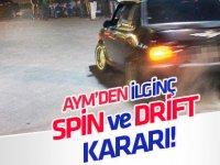 """Anayasa Mahkemesinden ilginç """"spin ve drift"""" kararı!"""