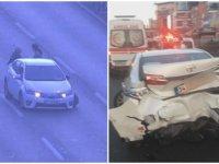 Sebebine inanamayacaksınız... Aracın arkasında bekleyen 2 kadına otomobil çarptı