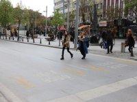 Konya Büyükşehir'den yaya öncelikli zemin uygulaması