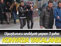 Uyuşturucu sevkiyatı yapan 3 şahıs Konya'da yakalandı