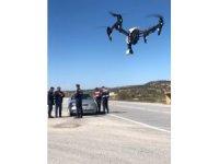 Jandarmadan dronelu trafik uygulaması
