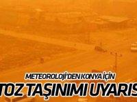 """Meteorolojiden Konya için """"toz taşınımı"""" uyarısı"""