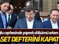 """""""Siyaset defterini kapattım"""" Davutoğlu cephesinde yaprak dökümü erken başladı!"""