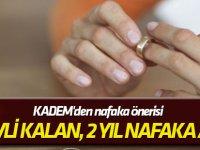 """KADEM'den nafaka önerisi """"2 yıl evli kalan, 2 yıl nafaka alsın!"""""""