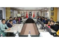 Şehit çocuklarından Mardin protokolüne ziyaret