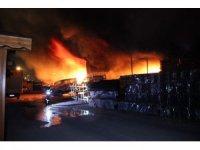 Belediyeye ait depo alev alev yandı