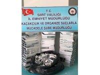 Siirt'te bin 570 paket kaçak sigara ele geçirildi