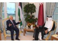 Abbas Doha'da Katar Emiri ile görüştü