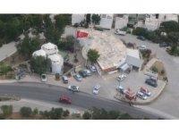 Bodrum'da helikopterli trafik denetimi