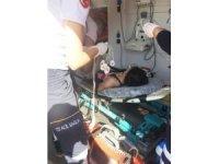 Boğulmak üzere olan çocuğu cankurtaran kurtardı