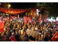 Mardin'de 15 Temmuz Anma etkinliğine yüzlerce vatandaş katıldı.