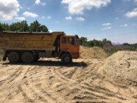 Kaçak hafriyat döken kamyona 72 bin lira ceza