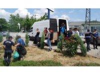 Tekirdağ'da 37 mülteciyi taşıyan minibüs kaza yaptı