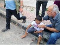 3. kattaki balkondan düşen çocuk yaralandı