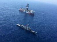 Türk sondaj gemilerinin Doğu Akdeniz'deki çalışmaları sürüyor! Savaş gemileri koruyor