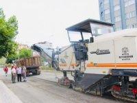 Şehit Kemal Sert Caddesinde asfaltlama çalışmaları başladı