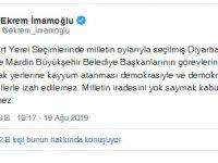 İmamoğlu terör destekçisi başkanların görevden alınmasından rahatsız oldu!