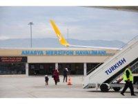 Amasya Merzifon Havalimanından 2019 yılının ilk 7 ayında 100 binden fazla yolcu uçtu