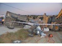Selendi'de traktör devrildi: 1 ölü