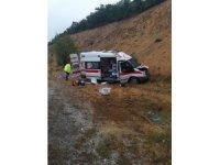 Yozgat'ta hasta bebeği taşıyan ambulans kaza yaptı: 4 yaralı
