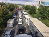 Eskişehir'deki zincirleme trafik kazası trafiği kilitledi