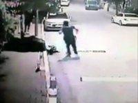 Üsküdar'da nefes kesen hırsız polis kovalamacası kamerada