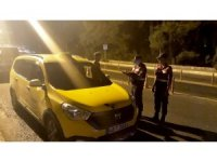 Fethiye'de trafiği tehlikeye düşüren taksicilere ceza