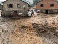 Gümüşhane'de şiddetli yağış ve dolu sele sebep oldu