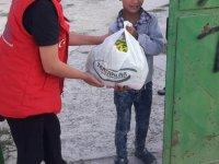 Bahçeden yetişen sebzeler ücretsiz dağıtıldı