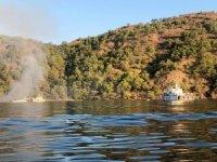 Fethiye'de gulet teknede yangın: 1 ölü, 4 yaralı