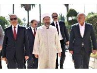 Diyanet İşleri Başkanı Erbaş'tan Mersin Valisine ziyaret