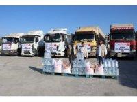 Cansuyu'ndan Suriye'ye 8 tırlık yardım malzemesi