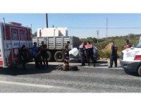 İzmir'de bir otomobil mermer yüklü tıra çarptı: 1 ölü