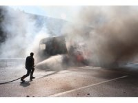GÜNCELLEME 2 - Anadolu Otoyolu'nda tır yangını
