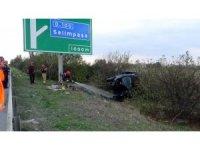 Otobanda kaza: 1 ağır yaralı