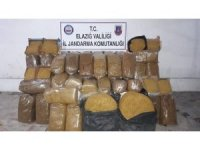 Elazığ'da 600 kilo kaçak tütün ele geçirildi