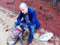 Ormanda kaybolan şube müdürünü iz takip köpeği buldu