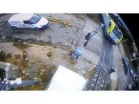 Tren kazası güvenlik kamerasında