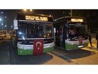 Özel Halk Otobüsleri Barış Pınarı için kornaya bastı
