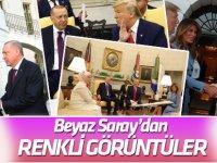 Trump-Erdoğan görüşmesinde Beyaz Saray'dan renkli görüntüler