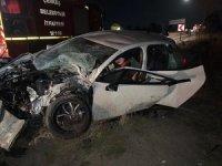 Çankırı'da yolcu otobüsü ile otomobil çarpıştı: 7 yaralı