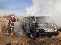Elazığ'da araç yangını