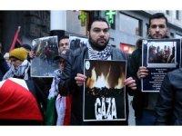 Brüksel'de İsrail protestosu